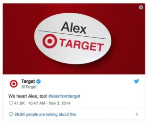 target twitter Alex from target social media moment