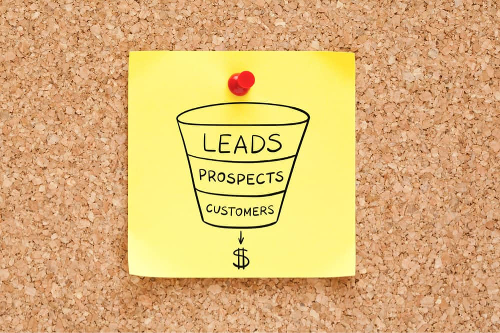 lead generation sticky note graphic